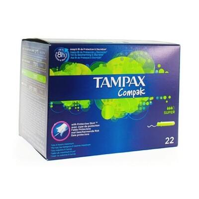 TAMPAX COMPAK SUPER 22