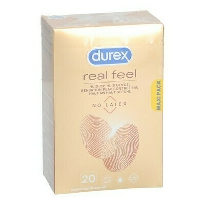 DUREX REAL FEEL CONDOMS 20
