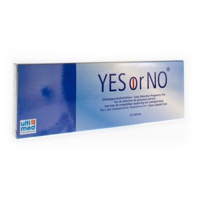 YES OR NO ZWANGERSCHAPSTEST 1