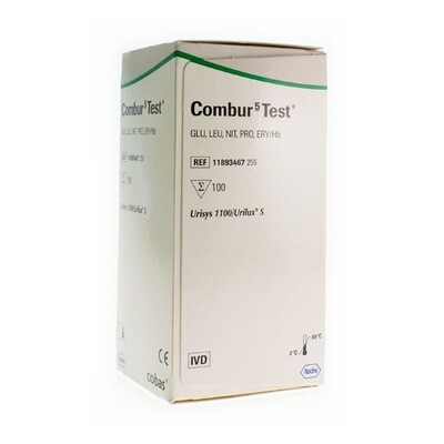 COMBUR 5 TEST STRIPS 100 11893467255