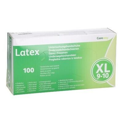 CAREWAY HANDSCHOENEN LATEX XL N/STER PDR/VR 100