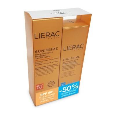 LIERAC SUNIS.FL VIS.IP50 40ML+SERUM REPAR.30ML-50%