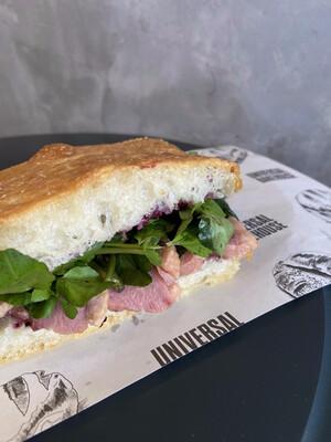 Smoked Duck Focaccia Sandwich
