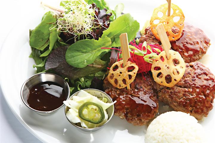 Hamburger Steak (Rice)