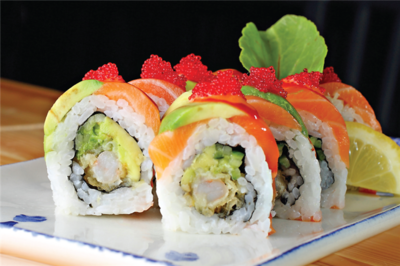Salmon Night Fever Roll (Red Dragon)