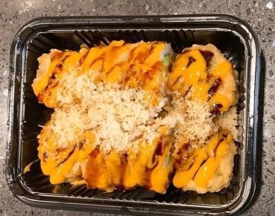 Deep Fried Spicy Sockeye Salmon Roll