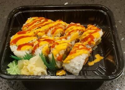 Spicy Sockeye Salmon Avocado Roll