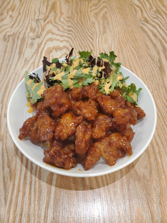 Sweet & Spicy Chicken Rice Bowl