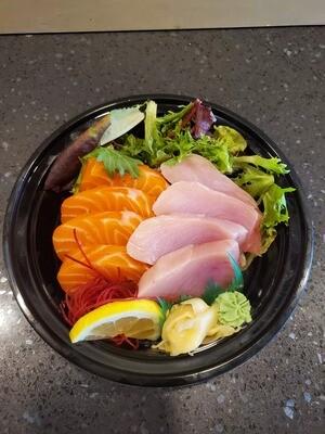 Salmon & Tuna Rice Bowl