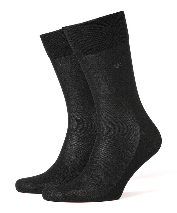 Burlington Socken mercerisierte Baumwolle schwarz