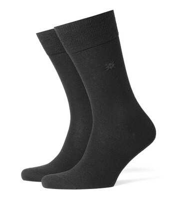 Burlington Socken Schurwolle schwarz