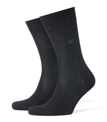 Burlington Socken Baumwolle schwarz