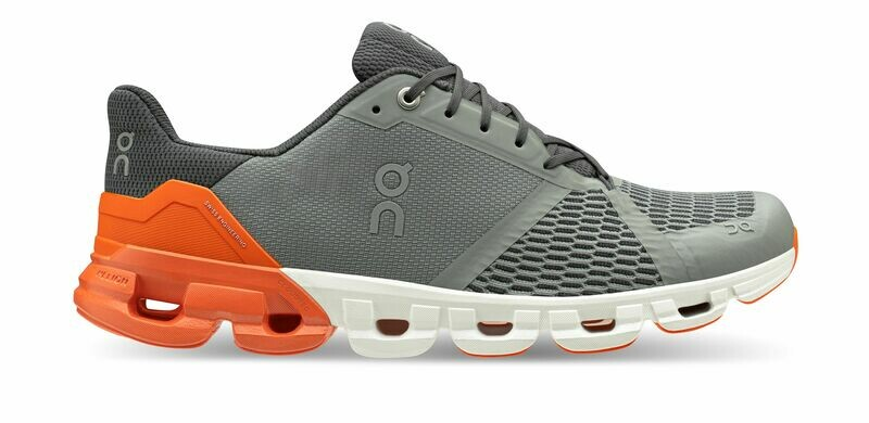 ON | Cloudflyer grey orange - Running structured guided