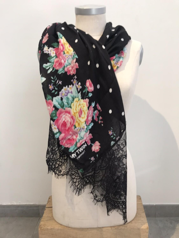 My Twin sjaal kant/ bloem/ bol