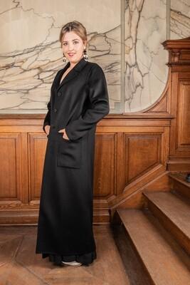 Twin Set lange mantel zwart