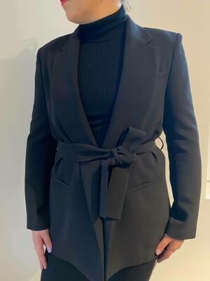 Compagnia Italiana blazer met riem zwart