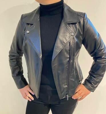 Studio AR lederen jasje zwart