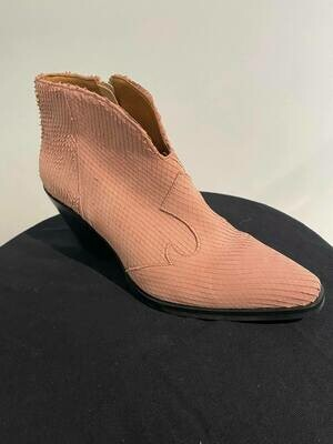SVNTY cowgirl boot suede roze