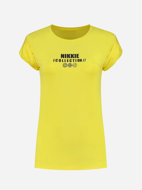 Nikkie T-shirt geel