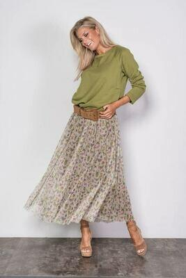 Margittes rok met print groen