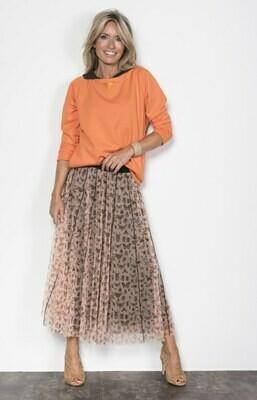 Margittes rok met print oranje