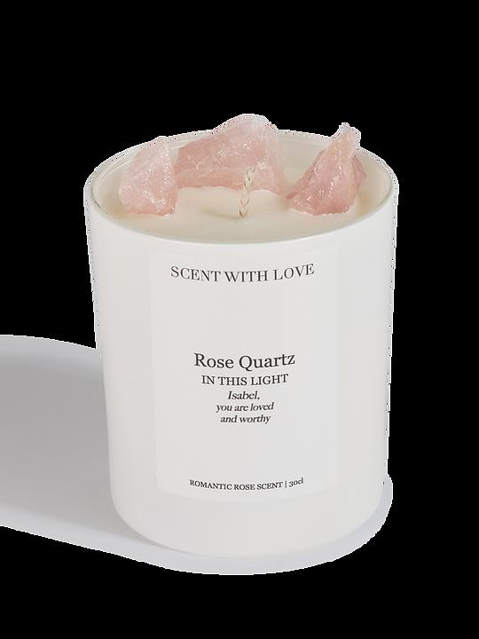 Scent With Love geurkaars Rose Quartz