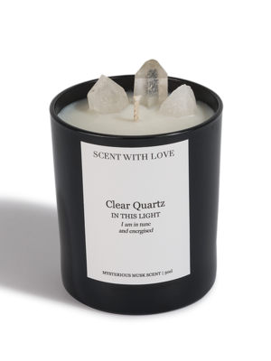 Scent With Love geurkaars Clear Quartz