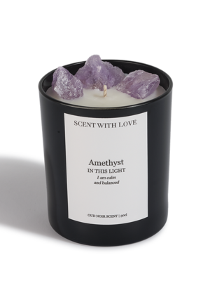Scent With Love geurkaars Amethyst