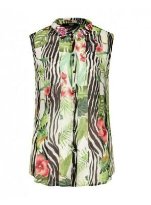 Guess Georgette all over print shirt