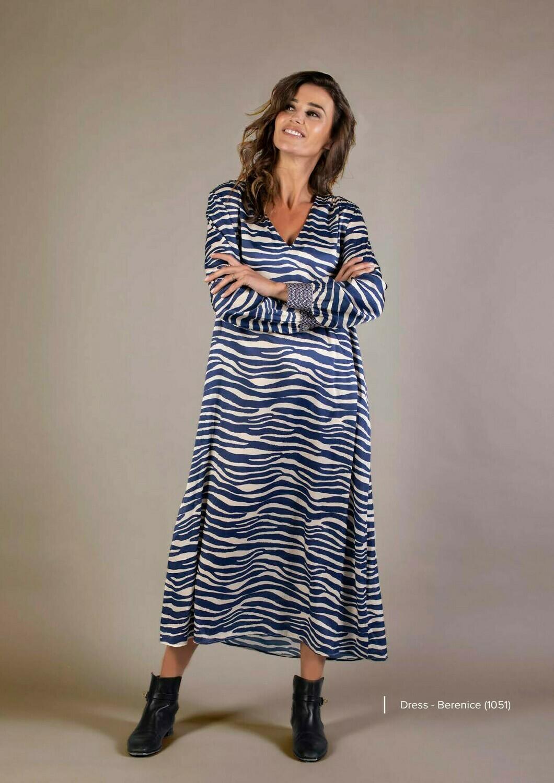 Joyce and Girls kleedje zebra blauw