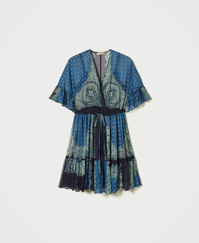 Twin-Set kleedje St. Foula blauwe print