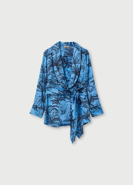 Liu Jo kimono lichtblauw met all-over print