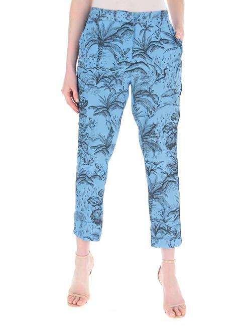 Liu Jo broek lichtblauw met all-over print