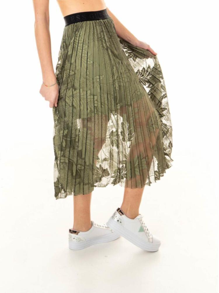 Guess rok met elastiek en kantmotief