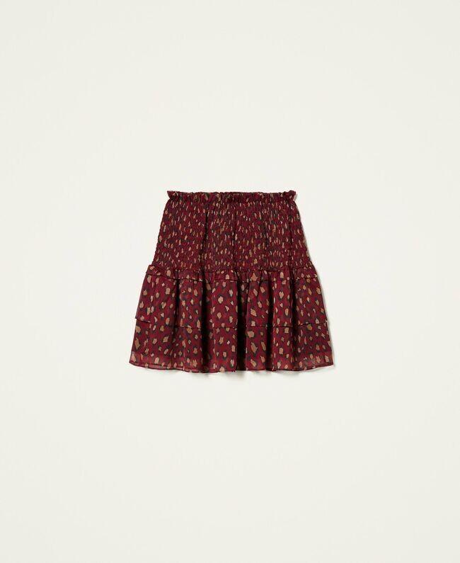 Twin Set Animal Print Creponne Skirt