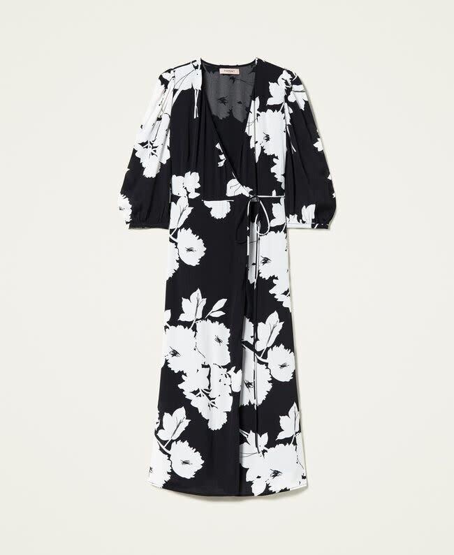 Twin Set halflang kleed met bloemenprint