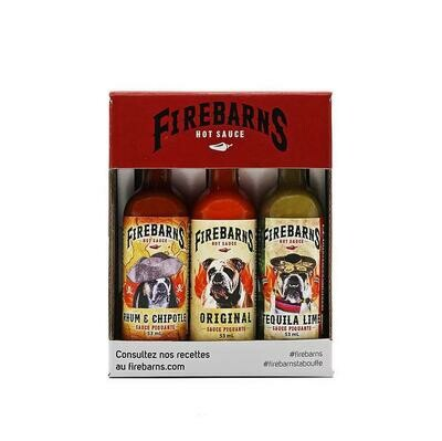 Firebarns - Trio de sauce 3 x 53ml
