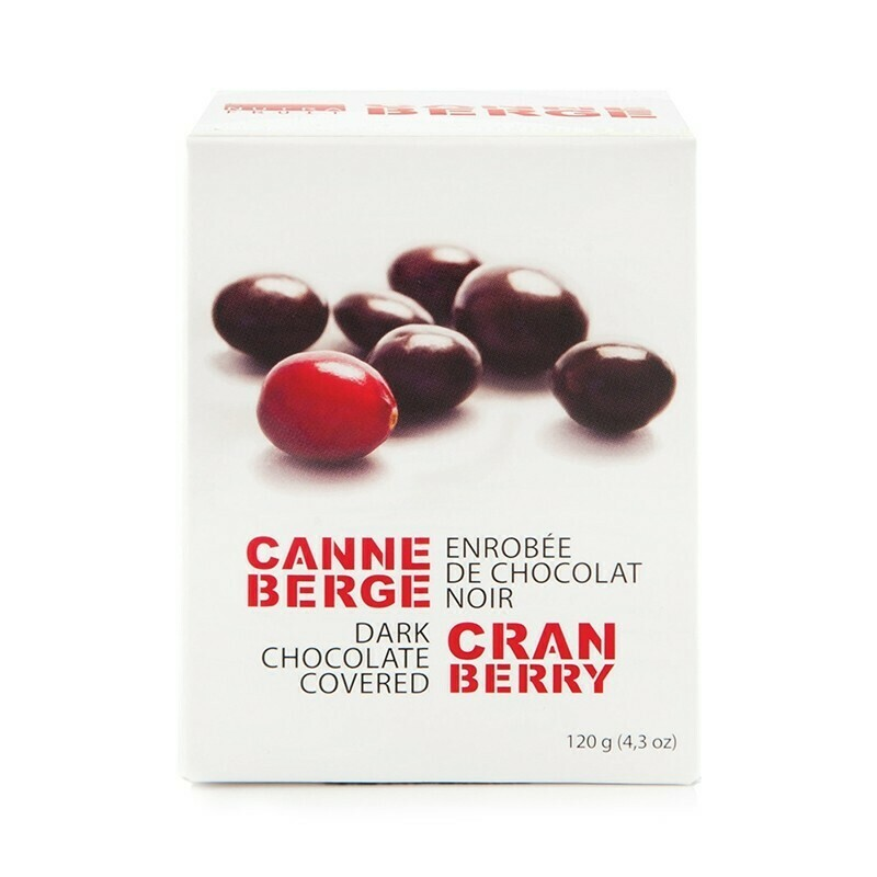 Canneberge - Enrobées de chocolat noir