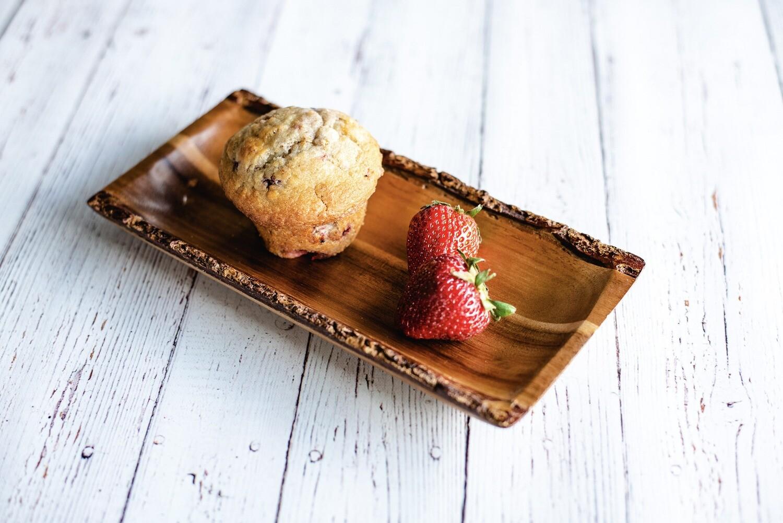 Muffins santé aux fraises (6)