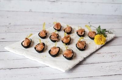 Canapé gravlax de saumon (24)