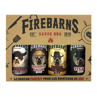 Firebarns - Ensemble cadeau BBQ 350ml