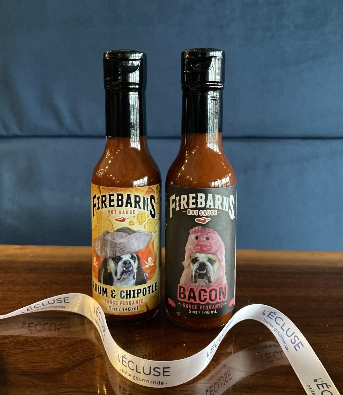 Duo de sauces Rhum Chipotle/Bacon Firebarns 148ml