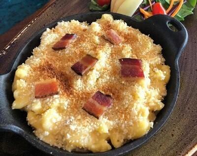 Macaroni au fromage maison bacon confit