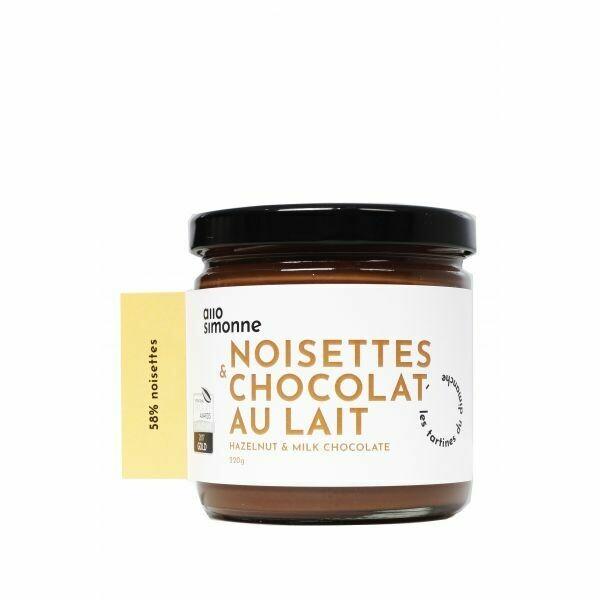 Allo Simonne - Tartinade noisettes et chocolat au lait