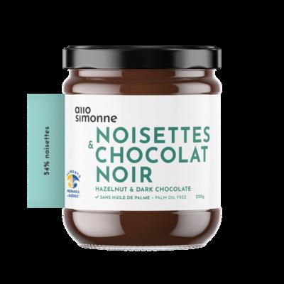 Allo Simonne - Tartinade noisettes et chocolat noir