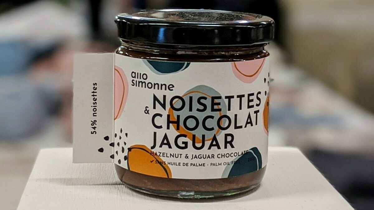 Allo Simonne - Tartinade noisettes et chocolat jaguar