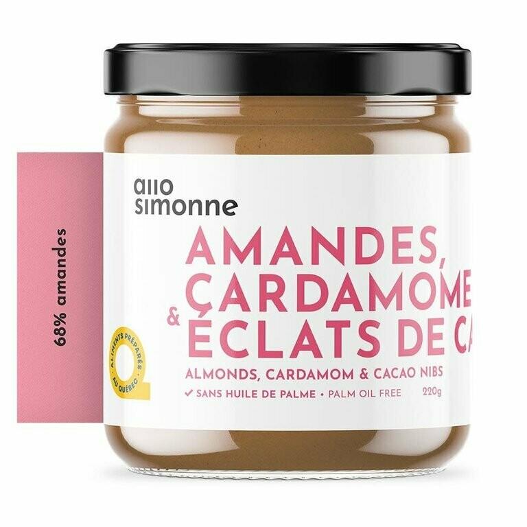 Allo Simonne - Tartinade amandes, cardamome et éclats de cacao