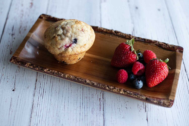 Muffins santé aux trois fruits (6)