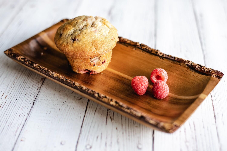 Muffin santé aux framboises (1)