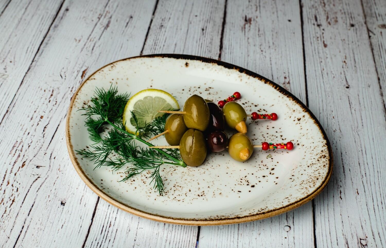 Brochettes d'olives